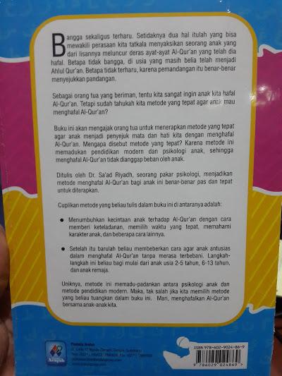 Buku Metode Tepat Agar Anak Hafal Al-Qur'an Cover 2