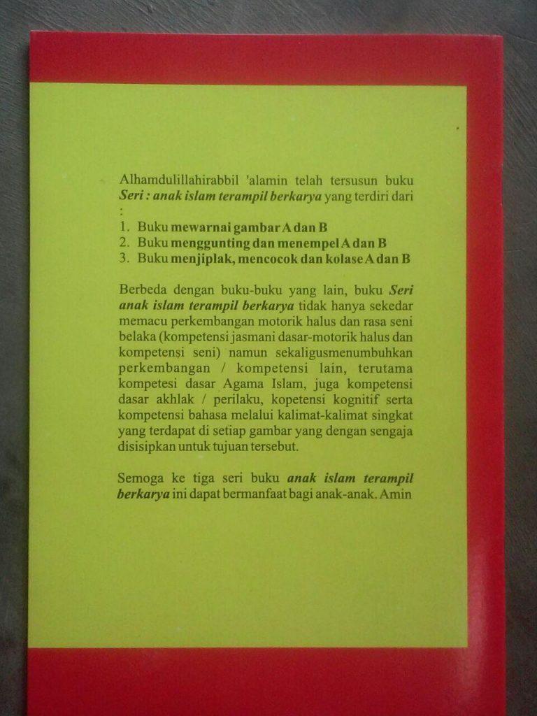 Buku Mewarnai Gambar A Dan B Untuk TK Islam Cover 2
