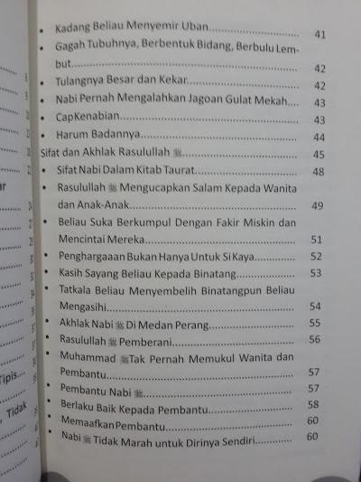 Buku Mimpi Bertemu Nabi shallallahu 'alaihi wa sallam Daftar Isi