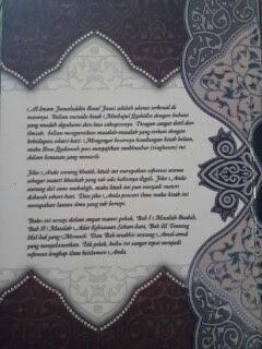 Buku Minhajul Qashidin Jalan Orang Mendapat Petunjuk Cover Belakang