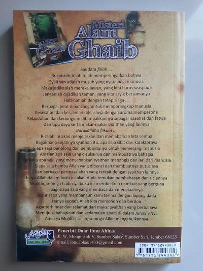 Buku Misteri Alam Ghaib Cover Belakang
