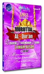 DVD MP3 Murottal Al-Quran 3 Imam Besar 30 Juz Disertai Terjemah Suara