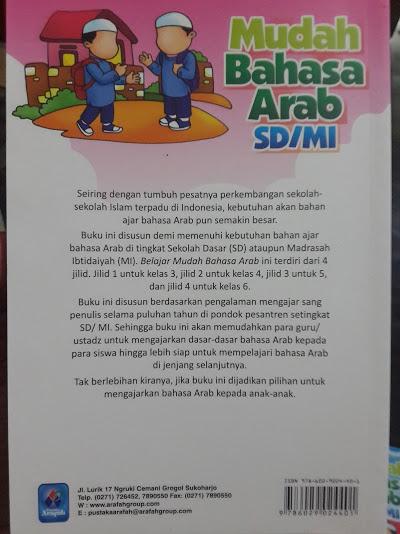 Buku Mudah Bahasa Arab SD MI Cover Belakang