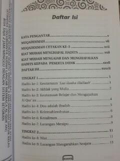 Buku Mudah Menghafal 100 Hadits Daftar Isi