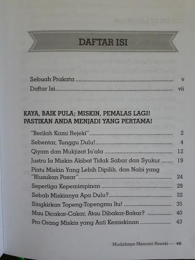 Buku Mudahnya Menjemput Rezeki Yang Barakah Daftar Isi