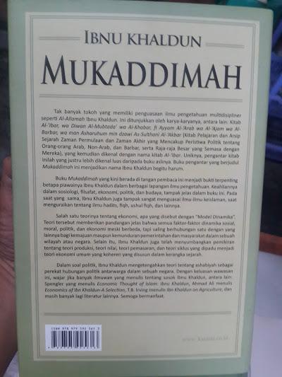 Buku Mukaddimah Ibnu Khaldun Cover 2