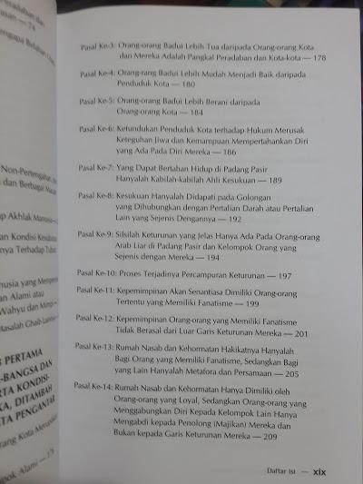 Buku Mukaddimah Ibnu Khaldun Daftar Isi