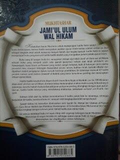 Buku Mukhtashar Jami'ul Ulum Wal Hikam Cover Belakang