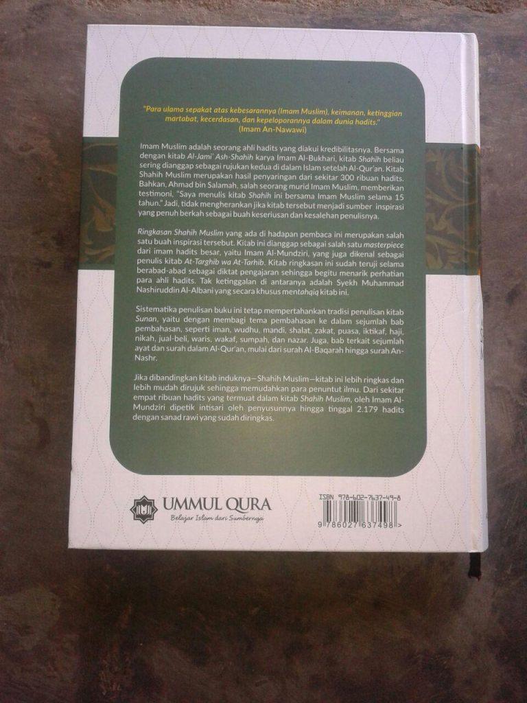 Buku Mukhtashar Shahih Muslim cover 2