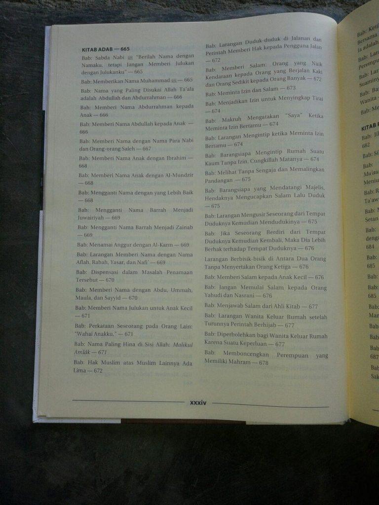 Buku Mukhtashar Shahih Muslim isi 2