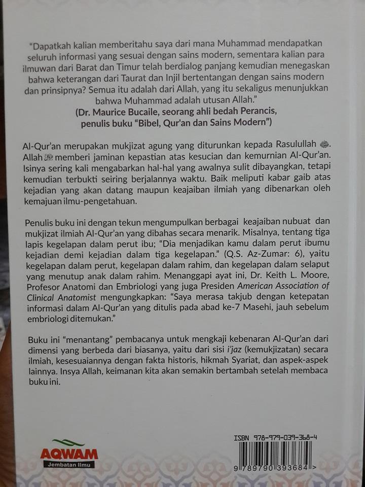 Buku Mukjizat Al-Qur'an Yang Tak Terbantahkan Cover 2