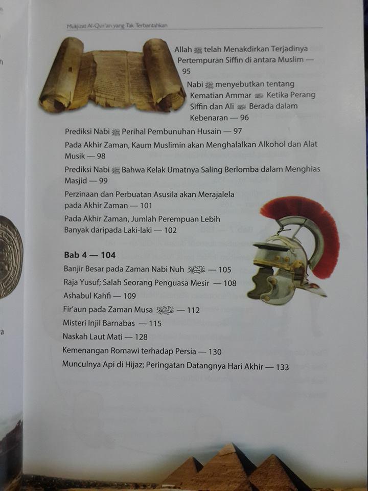 Buku Mukjizat Al-Qur'an Yang Tak Terbantahkan Daftar Isi