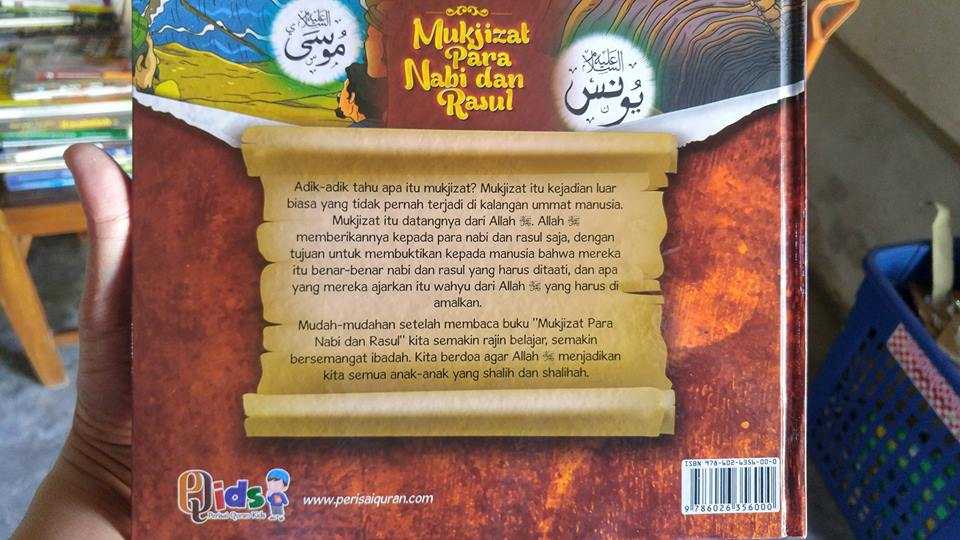 Buku Anak Mukjizat Para Nabi Dan Rasul cover 2