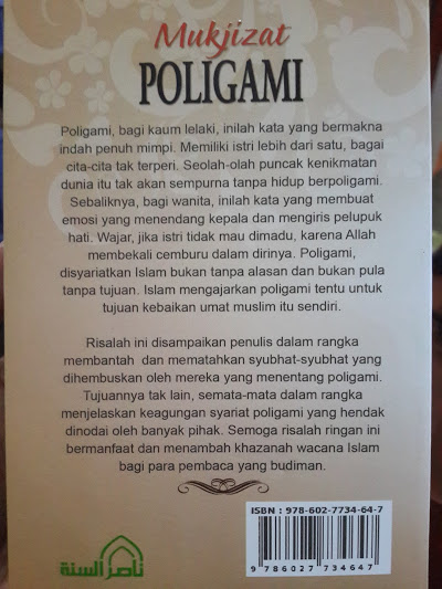 Buku Mukjizat Poligami Cover Belakang