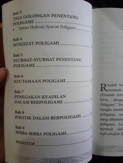 Buku Mukjizat Poligami Daftar Isi