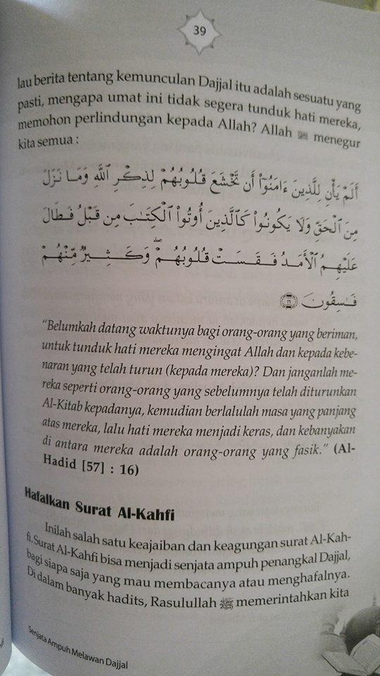 mukjizat surat al-kahfi buku isi