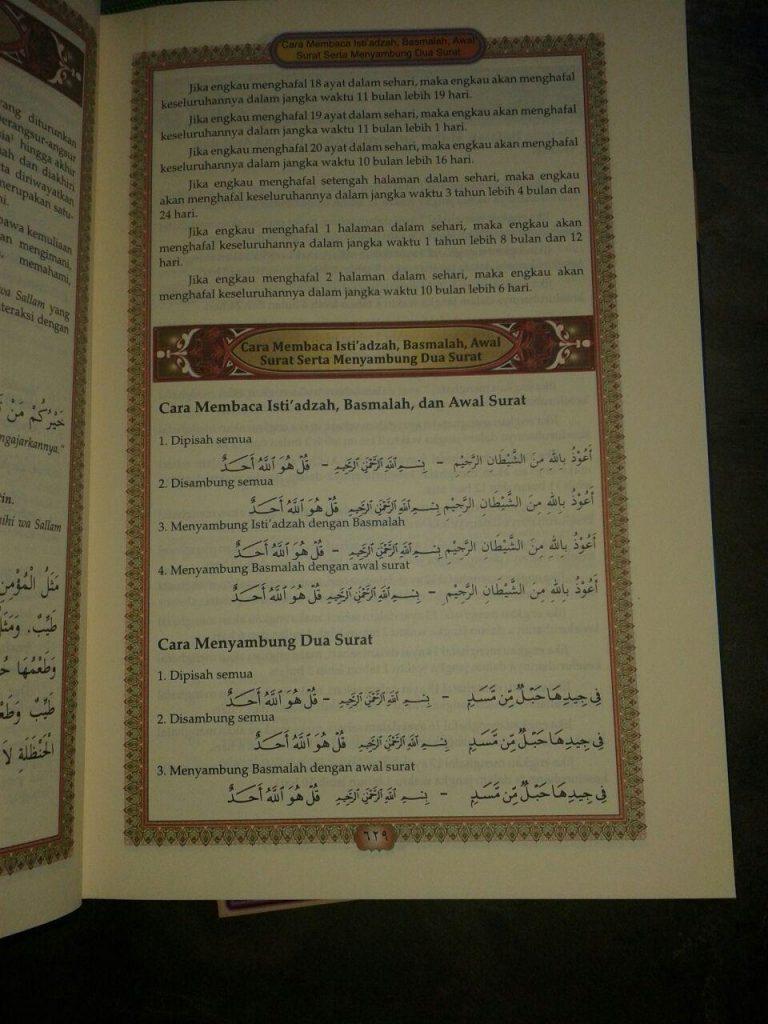Al-Quran Mushaf Tajwid Disertai Kode Garis Dan Blok Warna isi