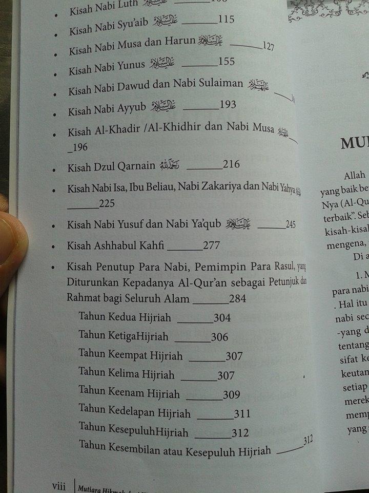 Buku Mutiara Hikmah Dari Kisah Para Nabi isi 2