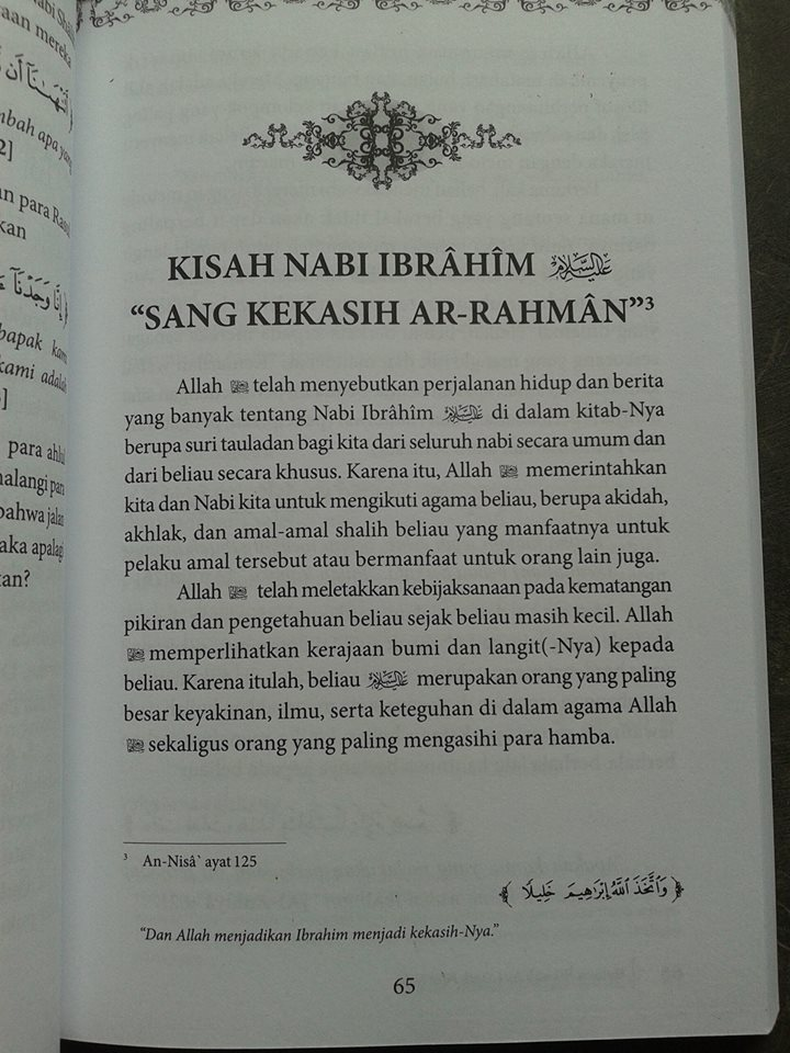 Buku Mutiara Hikmah Dari Kisah Para Nabi isi 3