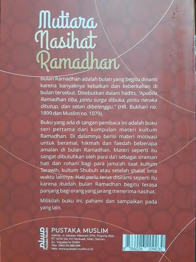 Buku Mutiara Nasihat Ramadhan 20 Kajian Ramadhan Seri 1 Cover 2