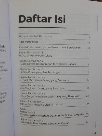 Buku Mutiara Nasihat Ramadhan 20 Kajian Ramadhan Seri 1 Daftar Isi