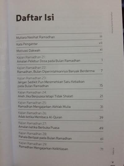 Buku Mutiara Nasihat Ramadhan 20 Kajian Ramadhan Seri 1 Cover 2 Daftar Isi