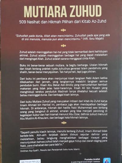 Buku Mutiara Zuhud 509 Nasihat Dan Hikmah Pilihan Cover Belakang