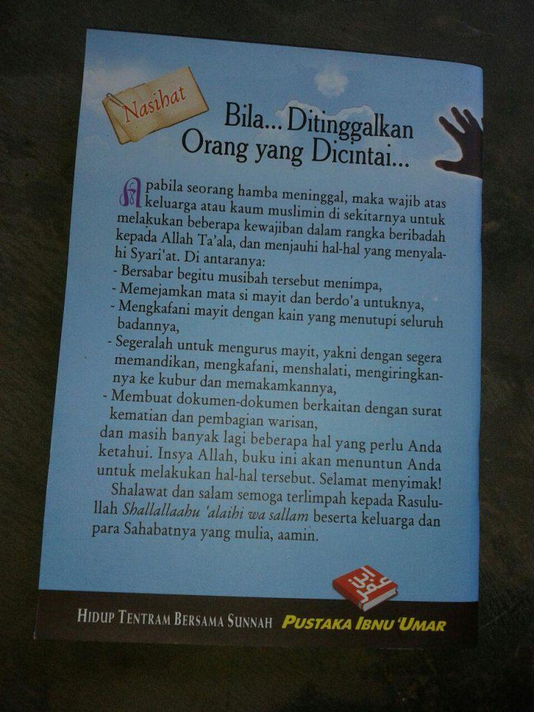 Buku Nasihat Bila Ditinggalkan Orang Yang Dicintai cover