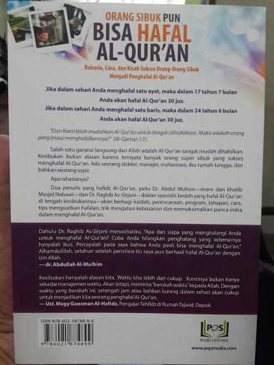 Buku Orang Sibuk Pun Bisa Hafal Al-Qur'an Cover 2