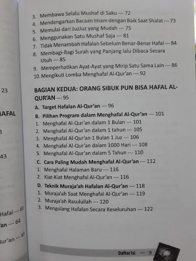Buku Orang Sibuk Pun Bisa Hafal Al-Qur'an Daftar Isi