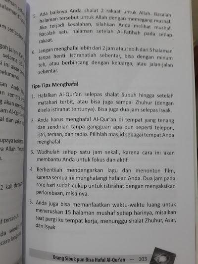 Buku Orang Sibuk Pun Bisa Hafal Al-Qur'an Isi