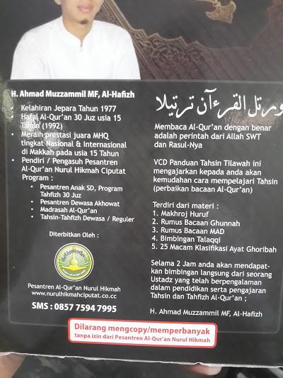 Paket Buku Dan VCD Panduan Tahsin Tilawah Cover 2
