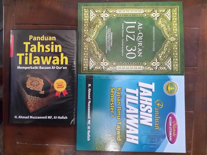 Paket Buku Dan VCD Panduan Tahsin Tilawah Set