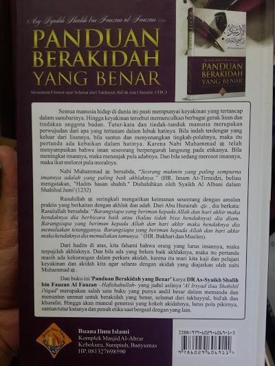 Buku Panduan Berakidah Yang Benar Cover 2