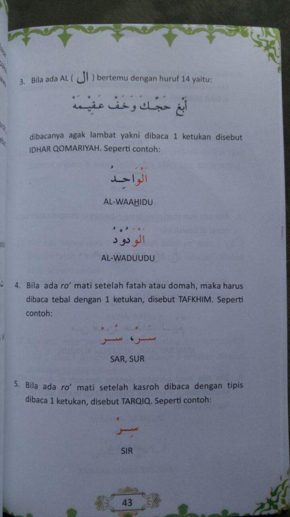 Buku Dan Video CD Tutorial Panduan Cepat Membaca Al-Qur'an isi