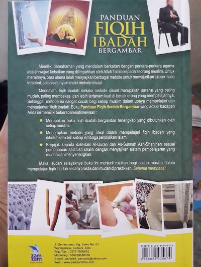 Buku Panduan Fiqih Ibadah Bergambar Cover Belakang