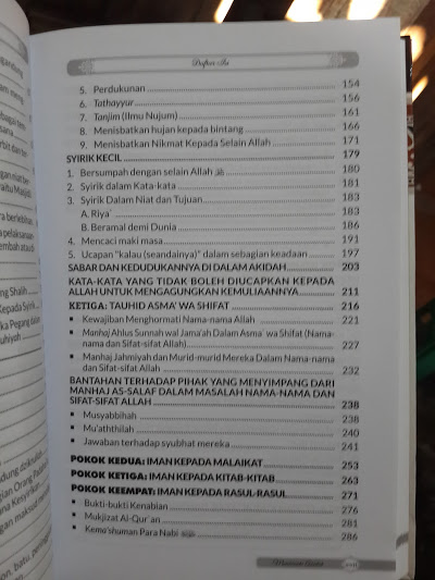 Buku Panduan Lengkap Membenahi Akidah Daftar Isi