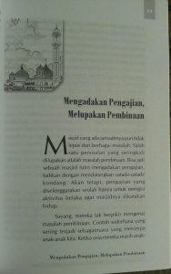 Buku Panduan Lengkap Mengelola & Memakmurkan Masjid isi