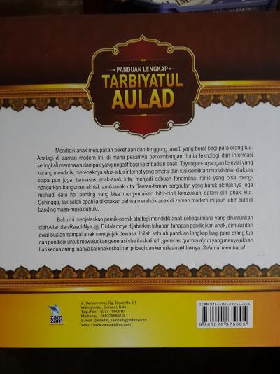 Buku Panduan Lengkap Tarbiyatul Aulad Cover Belakang