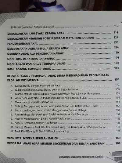 Buku Panduan Lengkap Tarbiyatul Aulad Daftar Isi
