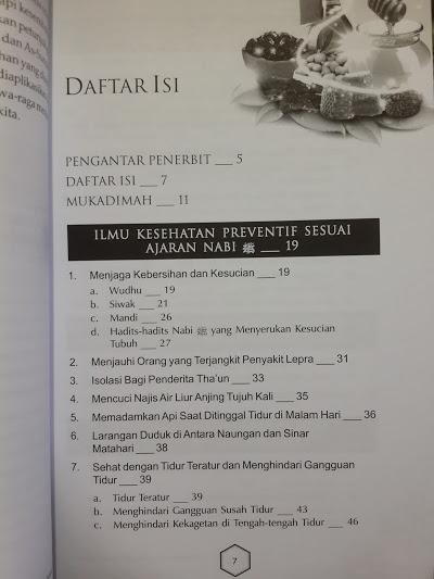 Buku Panduan Lengkap Thibbun Nabawi Daftar Isi