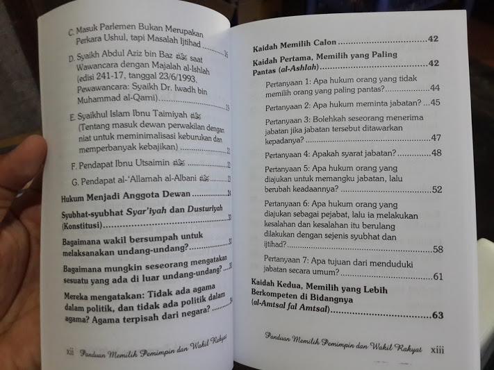 Buku Panduan Memilih Pemimpin Dan Wakil Rakyat Daftar Isi