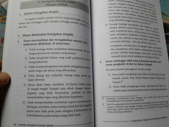 Buku Panduan Mengelola Sekolah Tahfizh Isi