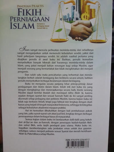 Buku Panduan Praktis Fikih Perniagaan Islam Cover Belakang