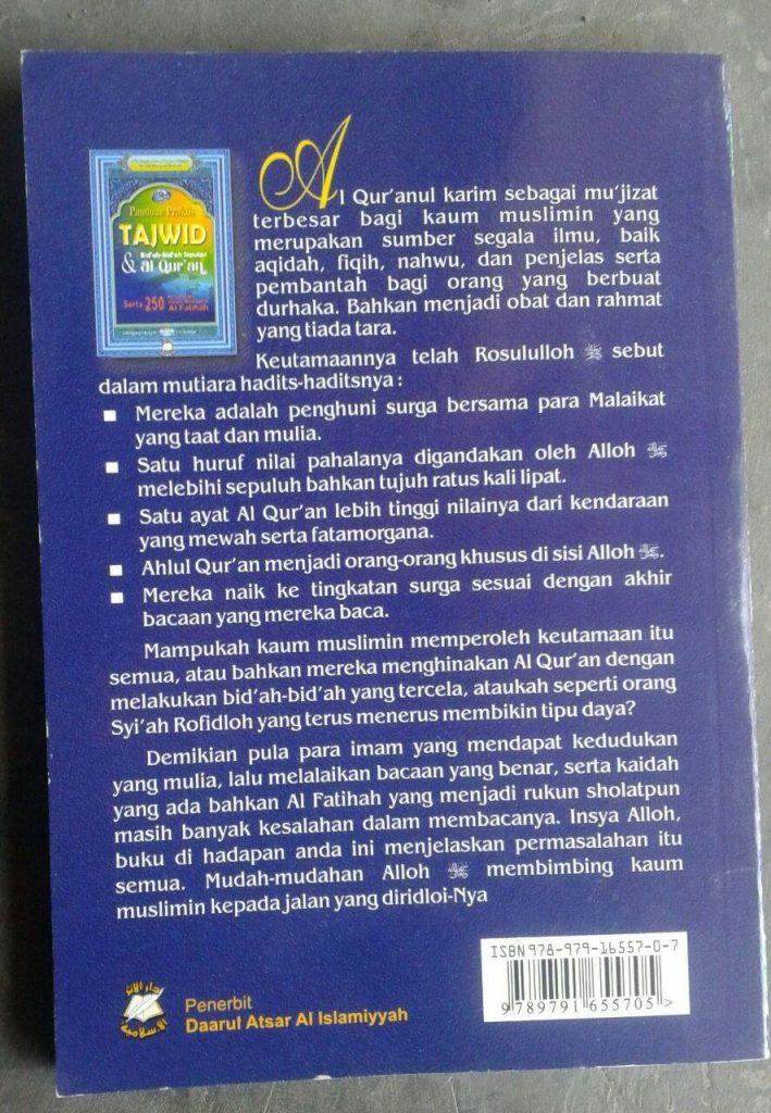 Buku Tajwid Praktis & Bid'ah-Bid'ah Seputar Al-Quran cover 2