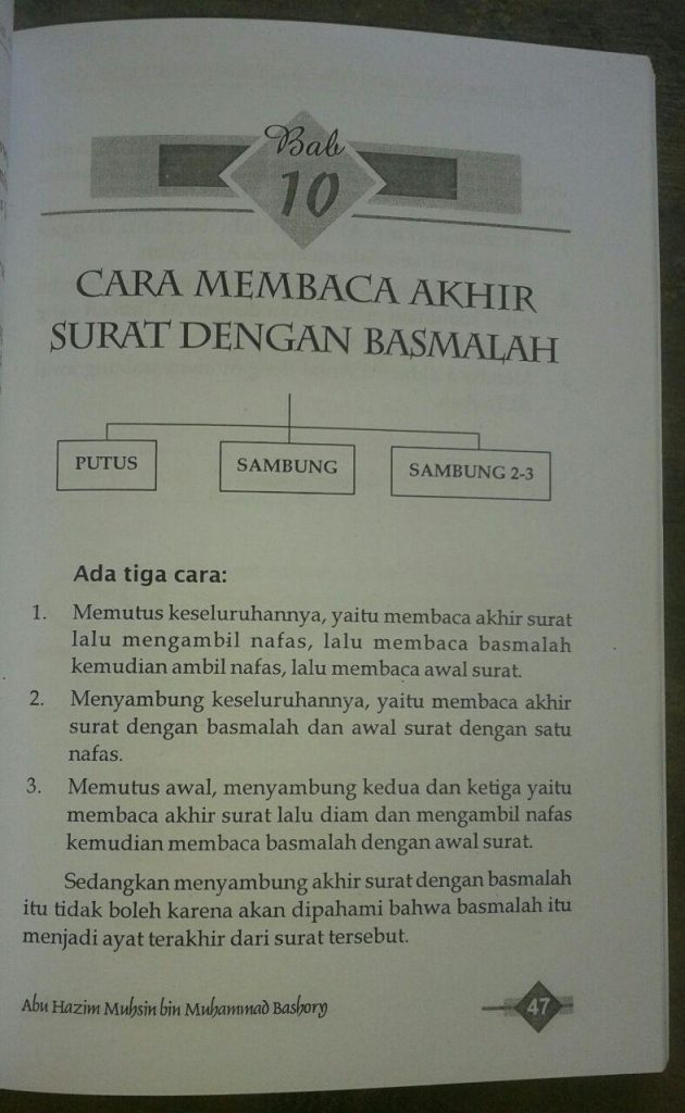 Buku Tajwid Praktis & Bid'ah-Bid'ah Seputar Al-Quran isi