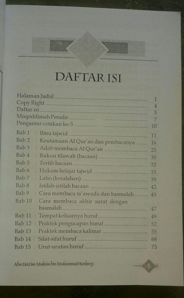 Buku Tajwid Praktis & Bid'ah-Bid'ah Seputar Al-Quran isi 2