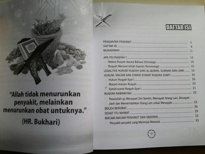 Buku Panduan Ruqyah Syar'iyah Daftar Isi