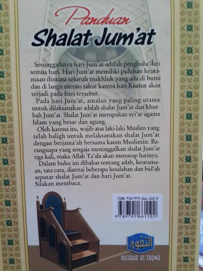 Buku Panduan Shalat Jum'at Keutamaan Adab Cover 2
