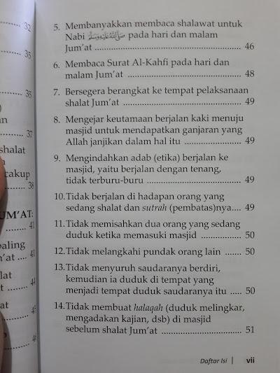 Buku Panduan Shalat Jum'at Keutamaan Adab Daftar Isi